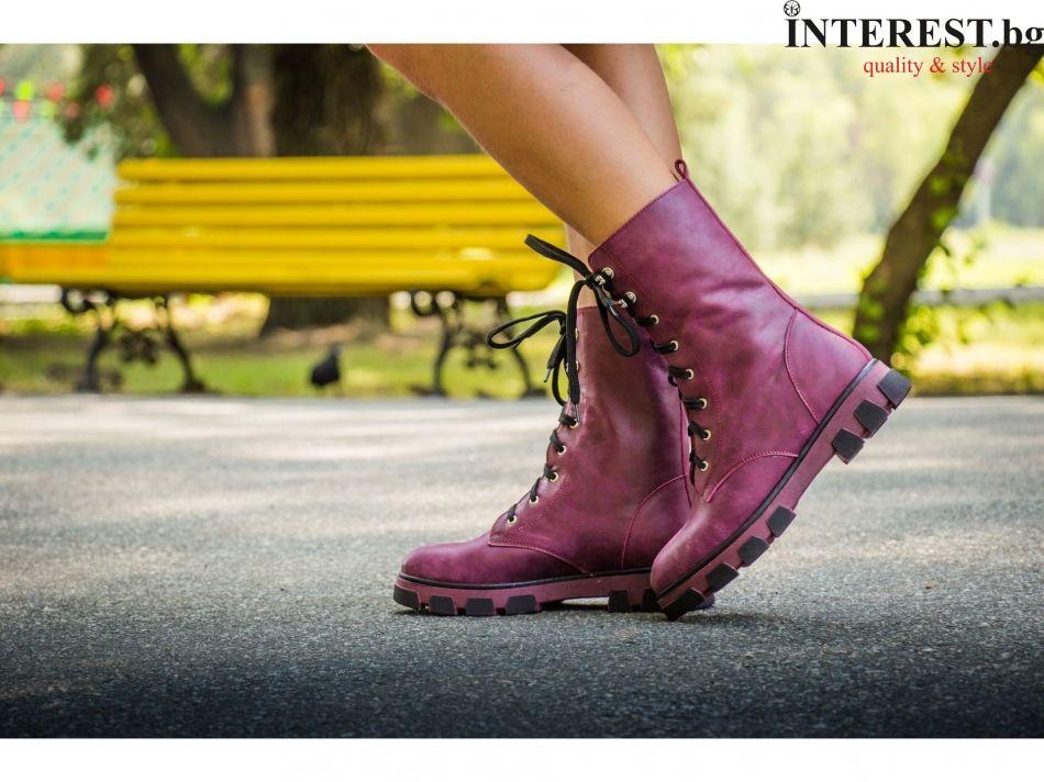 e047ca8efc4 ... онлайн магазин за боти естествена кожа лилави кубинки