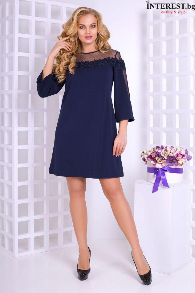 d0f73bf4eb2 синя къса дамска рокля макси мода
