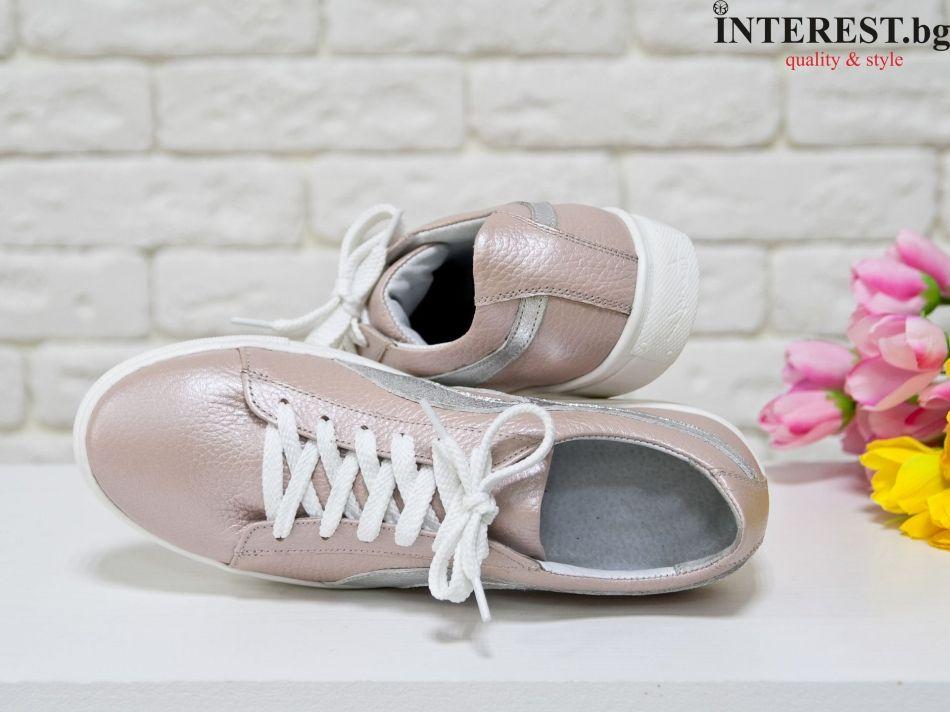 aee078531cb Дамски обувки - Сансивиера - нежно розово и сребро