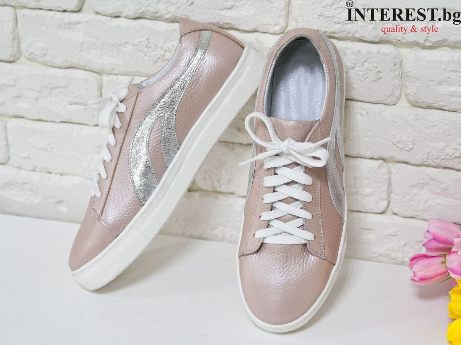 1b94bfdca1b ... пудра дамски леки кожени маратонки дамски спортни обувки естествена кожа