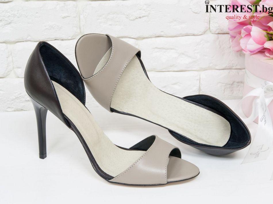 ec8dd70e17e Дамски обувки - Роза - червена и черна кожа