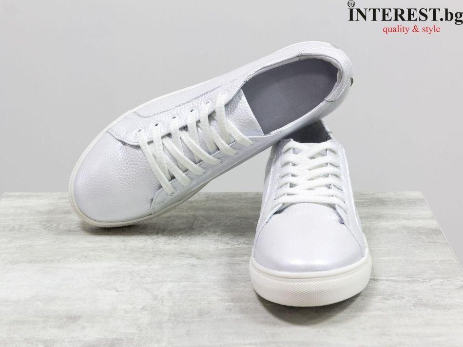23d210c6a47 Дамски спортни обувки - Мериана 1- бяла кожа, перла