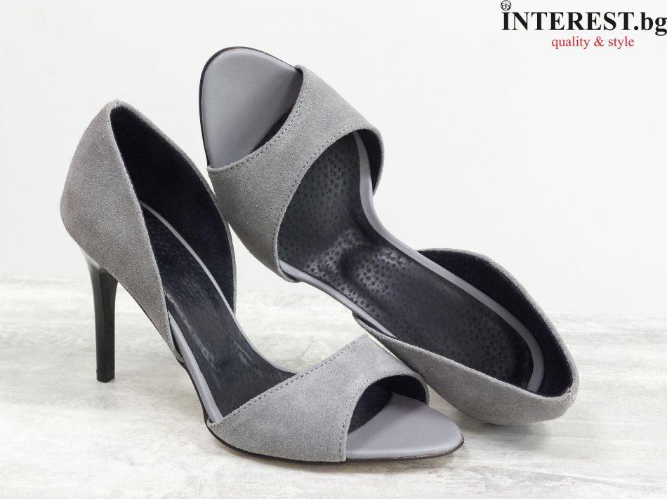 9adc8a78791 Дамски обувки - Роза - сив велур