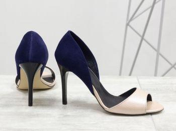 7d97eb76349 Дамски обувки - Роза - нежна розова кожа с перлени отблясъци и тъмно ...